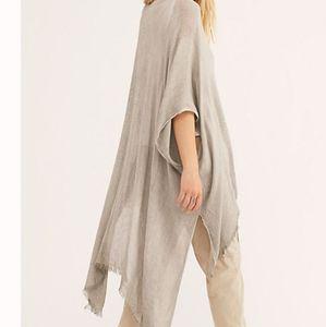 (OS) Grey-Free People  Daydream Gauze Kimono